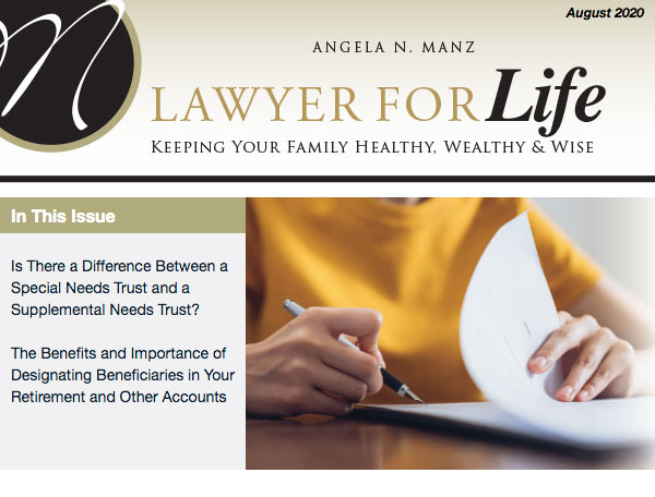 Estate Planning newsletter cover